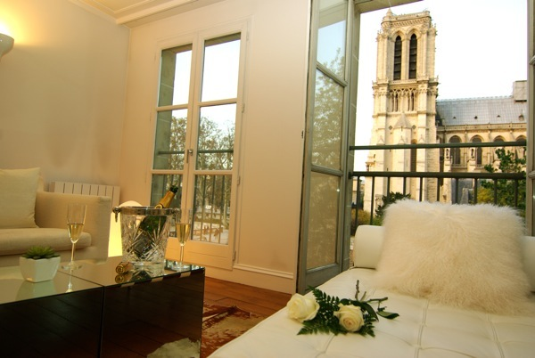 View of Notre Dam from your bedroom