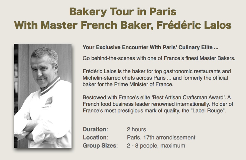 Frederic Lalos Biography Snippet for Bakery Tour in Paris - Wonderful Time