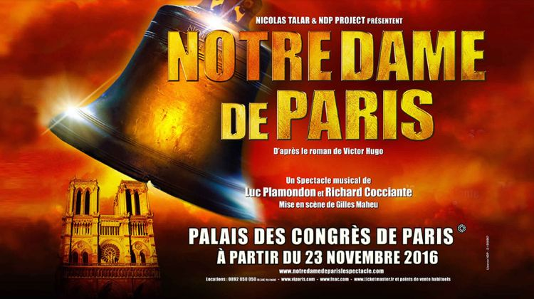 Notre Dame de Paris, promotional information for Paris musical.
