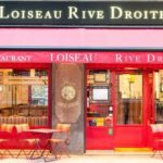Facade of Loiseau Rive Droite, Paris restaurant renowned for fine French cuisine.