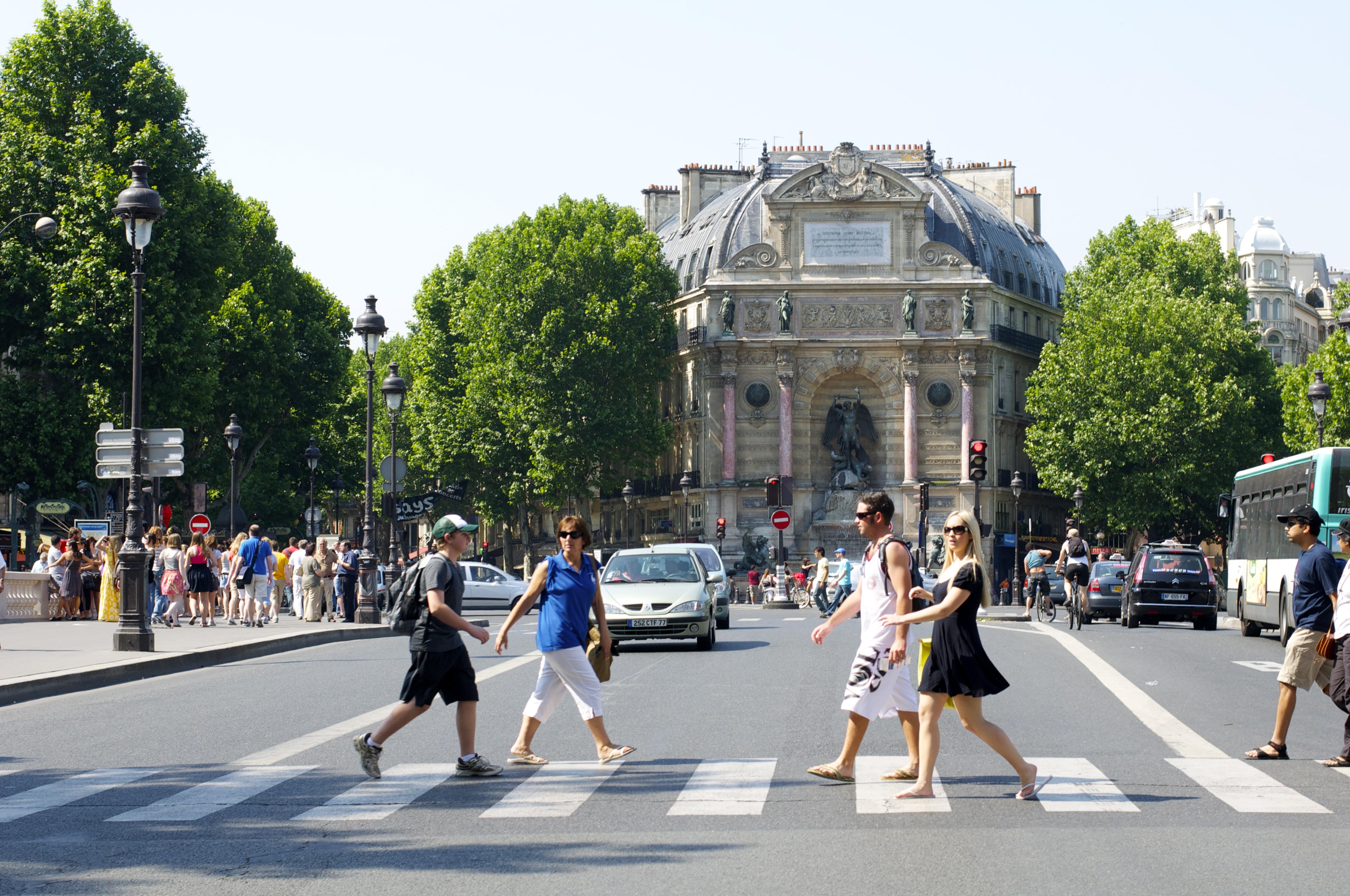 Place Saint-Michel, Paris, France, photographed by Aleksandr Zykov.