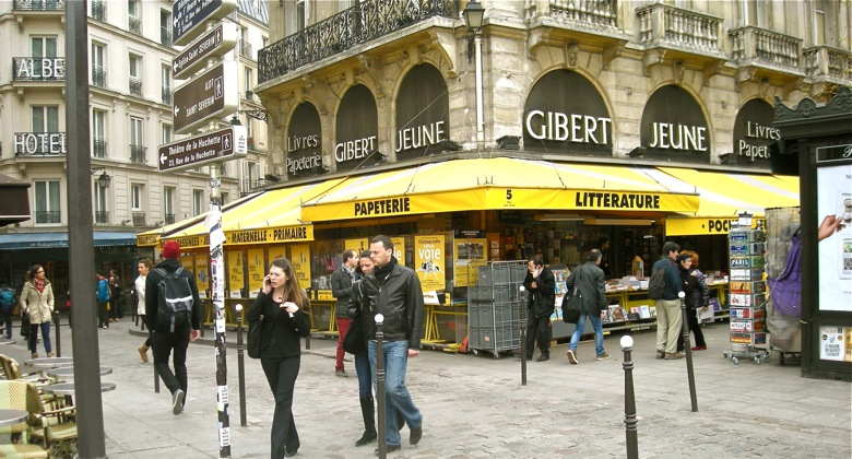 Gibert Jeune Bookstore, Saint-Michel, Paris, corner rue de la Huchette & boulevard Saint-Michel