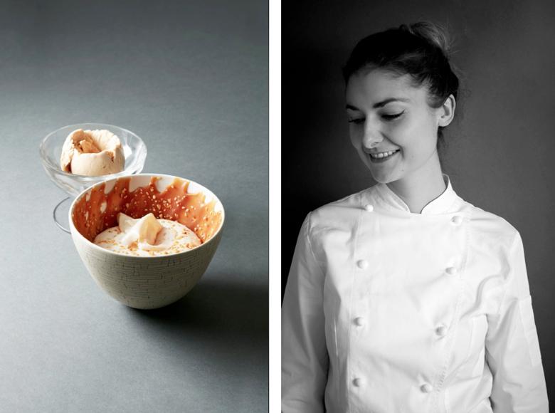Jessica Préalpato (Alain Ducasse au Plaza Athénée) - Best Dessert Nominee, 2017 Edition of Les Lebey de la Gastronomie, Paris