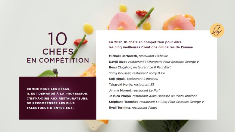 10 Chefs & Exceptional Cuisine, Les Lebey de la Gastronomie, 2017, Paris