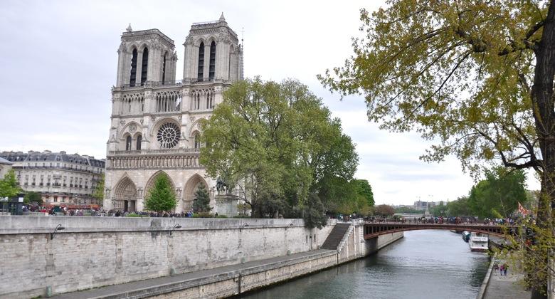 Pont au Double & Notre Dame, Paris, France.