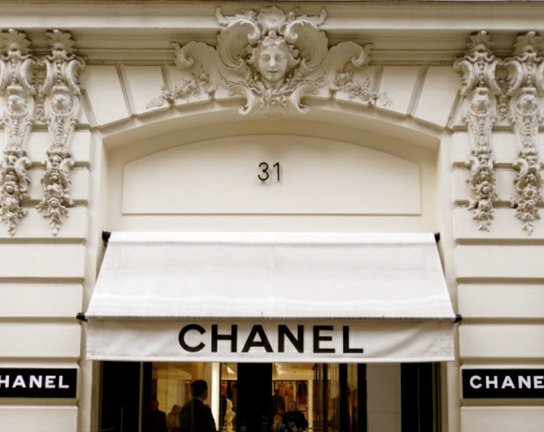 Chanel flagship store at 31 rue Cambon, Paris, France.